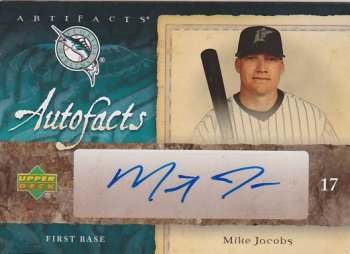 2007 Artifacts Autofacts #MJ Mike Jacobs