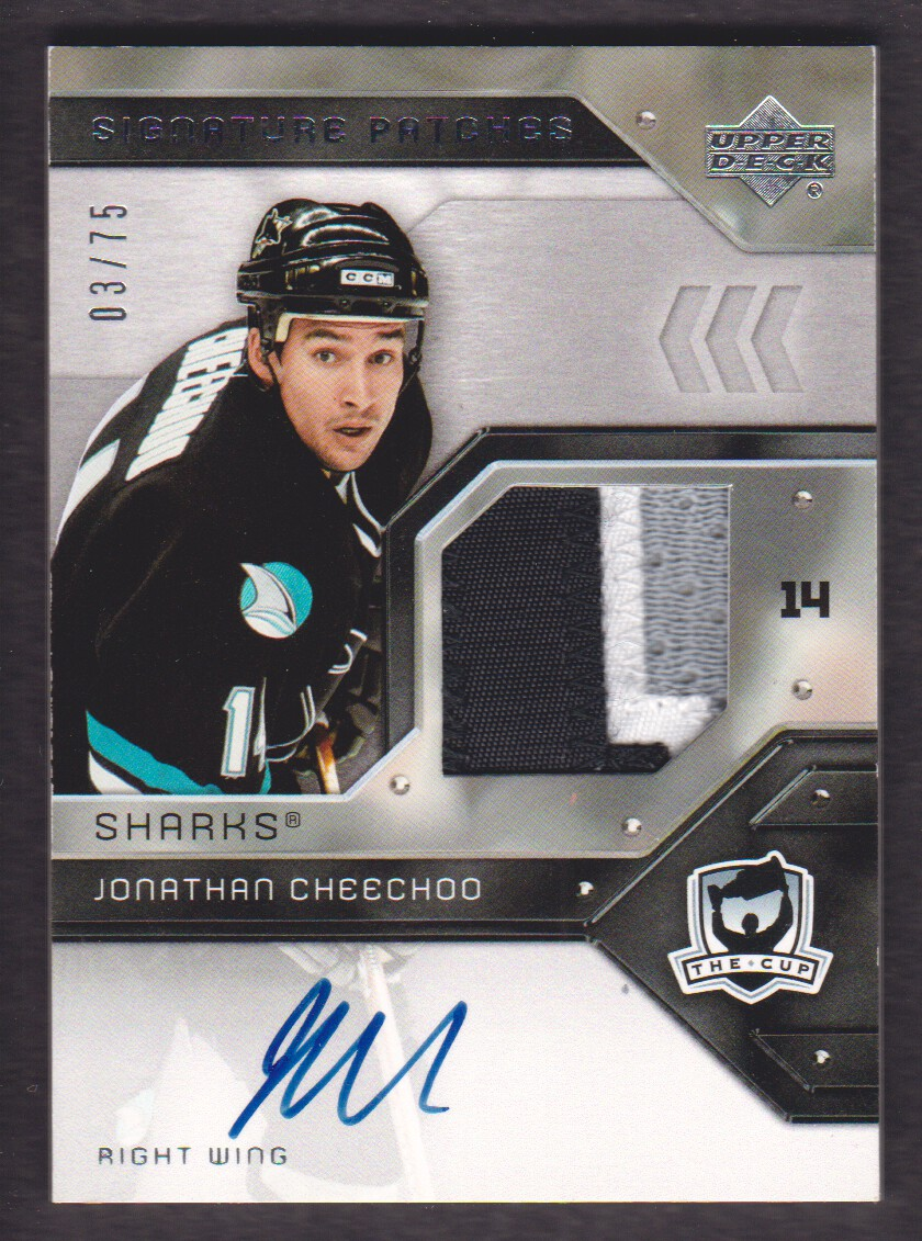 2006-07 The Cup Signature Patches #SPJC Jonathan Cheechoo