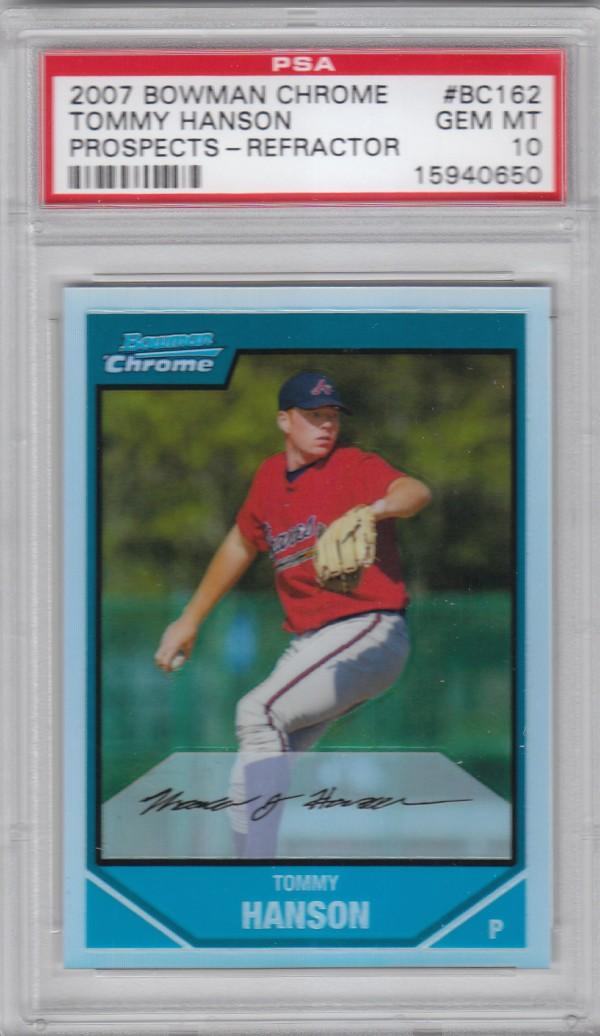 2007 Bowman Chrome Prospects Refractors #BC162 Tommy Hanson