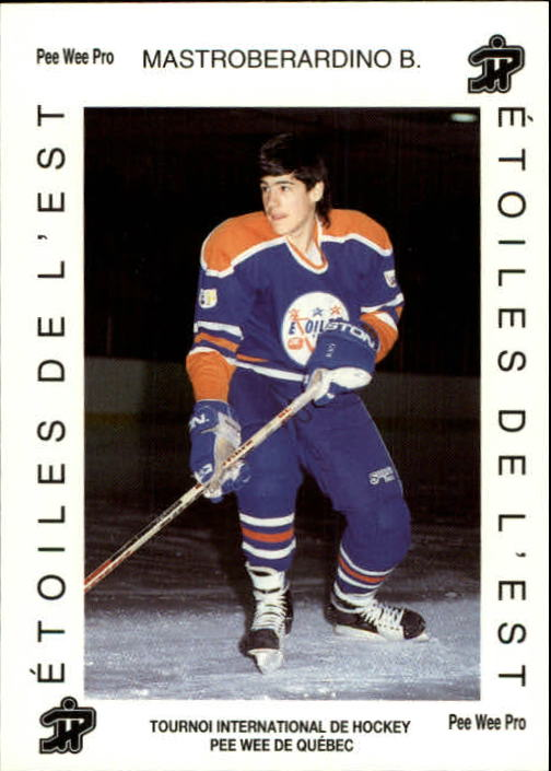 Details About 1992 Quebec Pee Wee Tournament 549 Benoit Mastroberardino