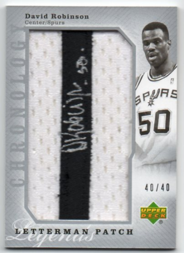 2006-07 Chronology #197 David Robinson JSY AU