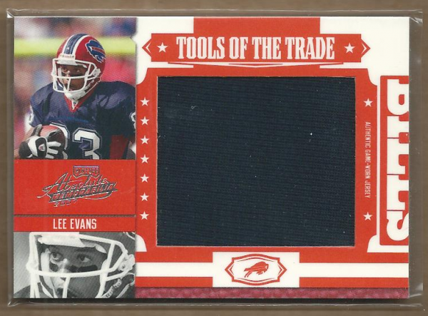 2007 Absolute Memorabilia Tools of the Trade Material Red Oversize #97 Lee Evans