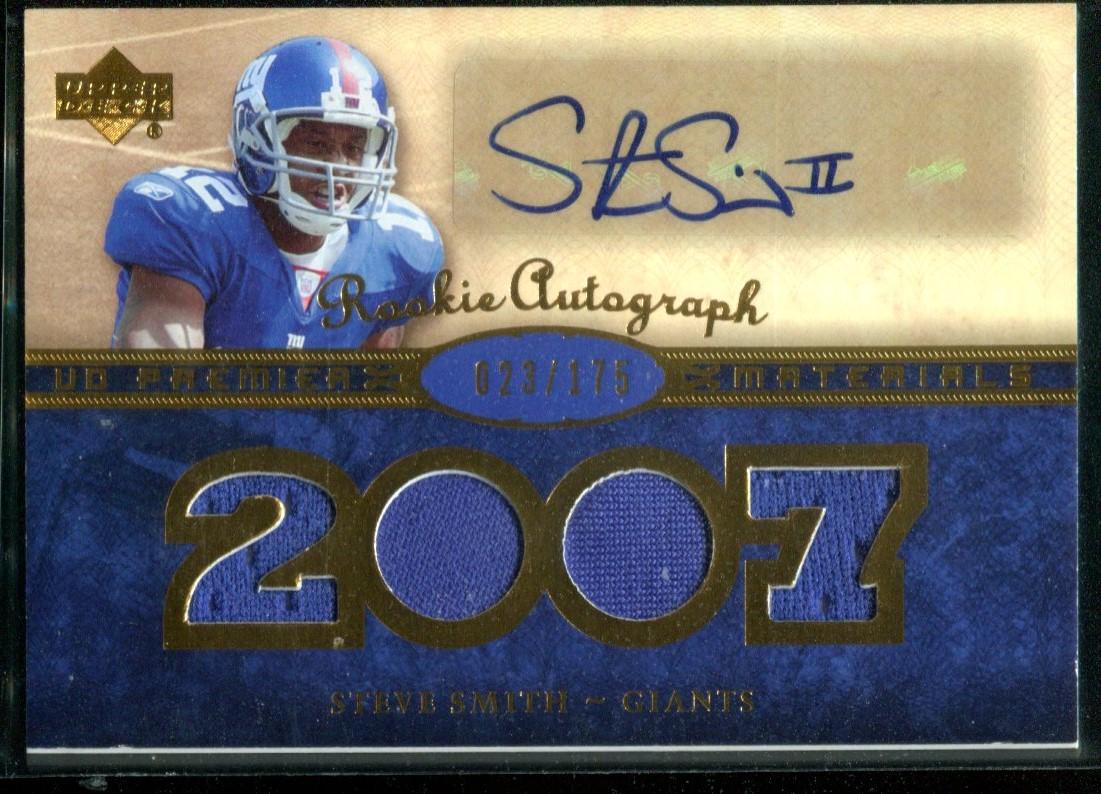 2007 Upper Deck Premier Rookie Autographed Materials Gold #161 Steve Smith USC