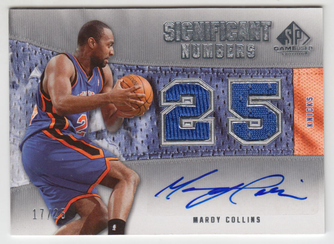 2007-08 SP Game Used Significant Numbers Autographs #MC Mardy Collins/25