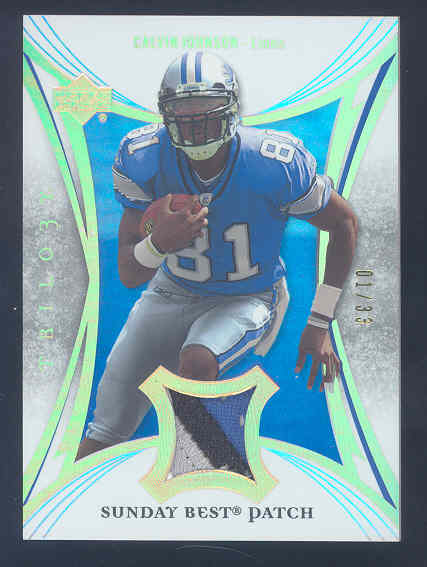 2007 Upper Deck Trilogy Sunday Best Jersey Patch Hologold #CJ Calvin Johnson