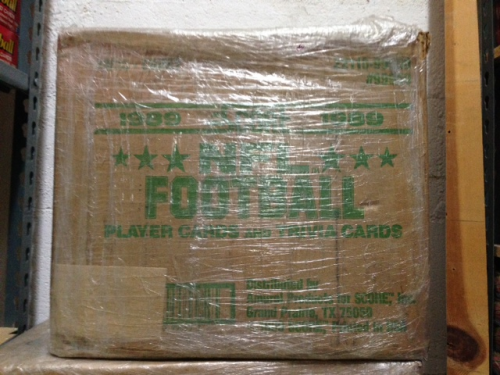 1989 Score Football Wax Case