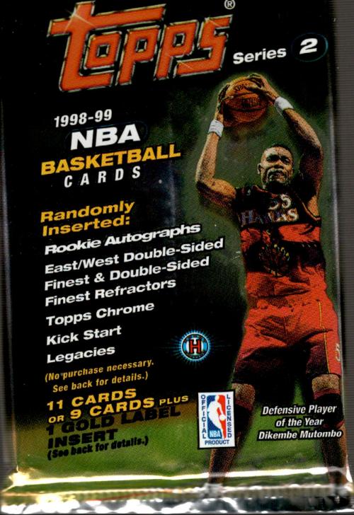 1998-99 Topps Basketball Hobby Pack Series 2