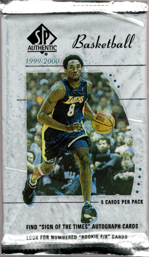 1999-00 SP Authentic Basketball Hobby Pack