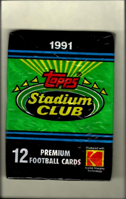 1991 Stadium Club Football Hobby Pack