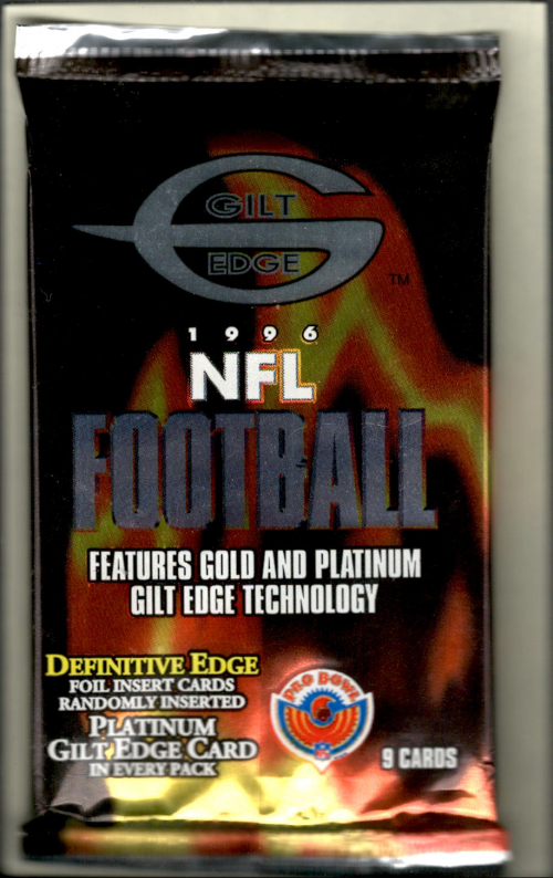 1996 Topps Gilt Edge Football Hobby Pack