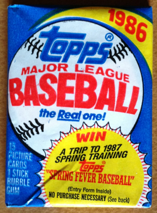 1986 Topps Baseball Wax Pack