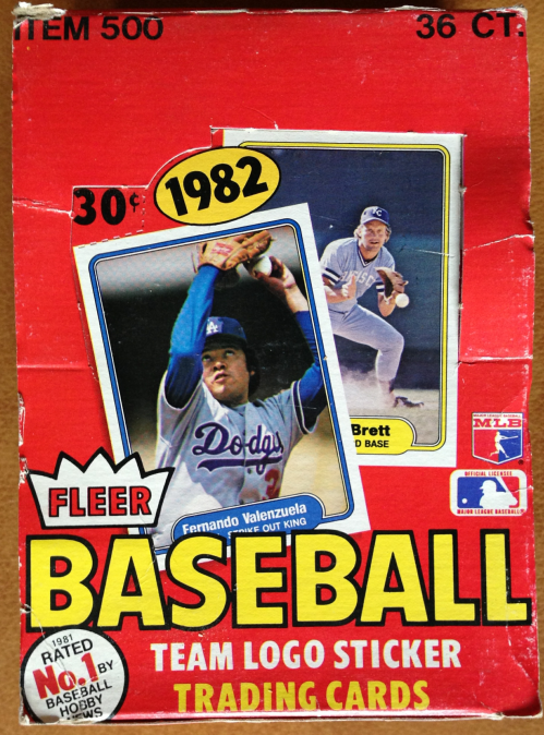 1982 Fleer Baseball Wax Box