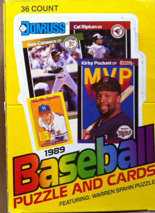 1989 Donruss Baseball Wax Box