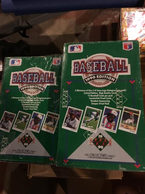 1990 Upper Deck Baseball Hobby Box Low Series