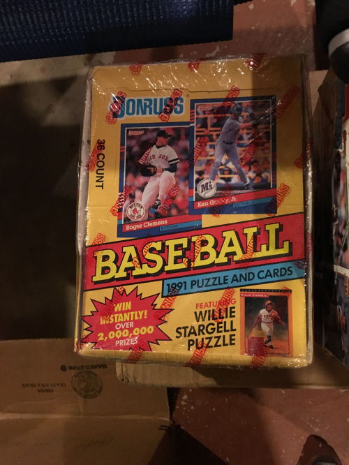 1991 Donruss Baseball Hobby Box Series 1