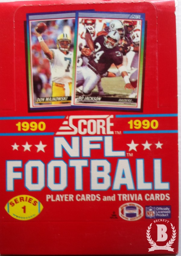 1990 Score Football Hobby Box Series 1