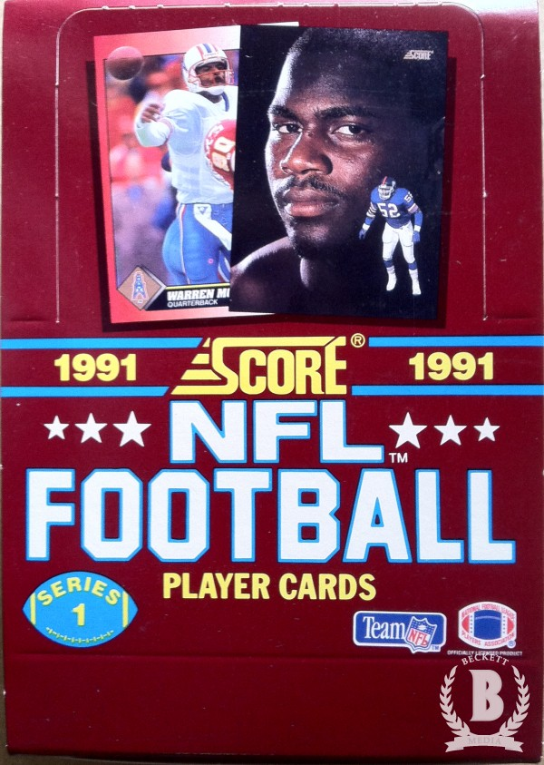 1991 Score Football Hobby Box Series 1