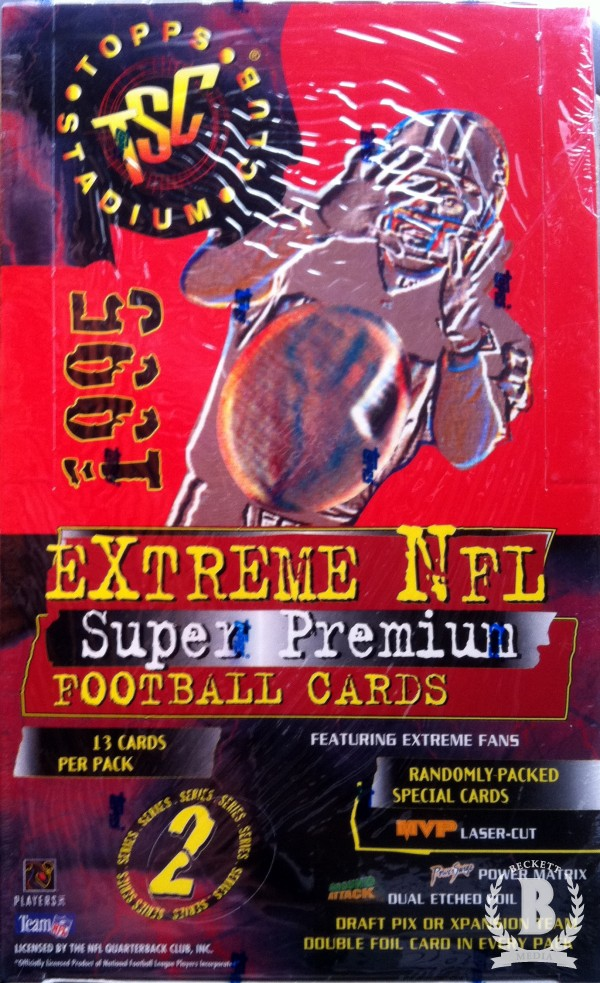 1995 Stadium Club Football Hobby Box Series 2