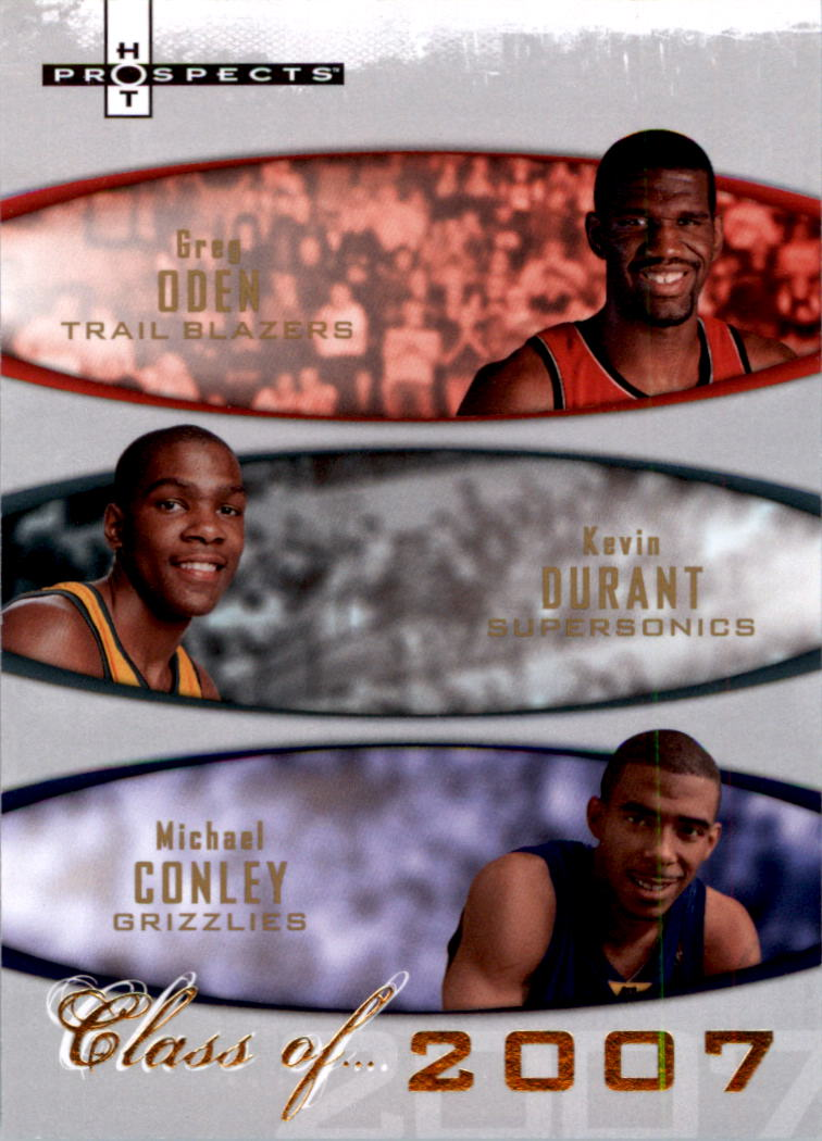 17f77563a57 2007-08 Fleer Hot Prospects Class of  2007A Greg Oden Kevin Durant  ...