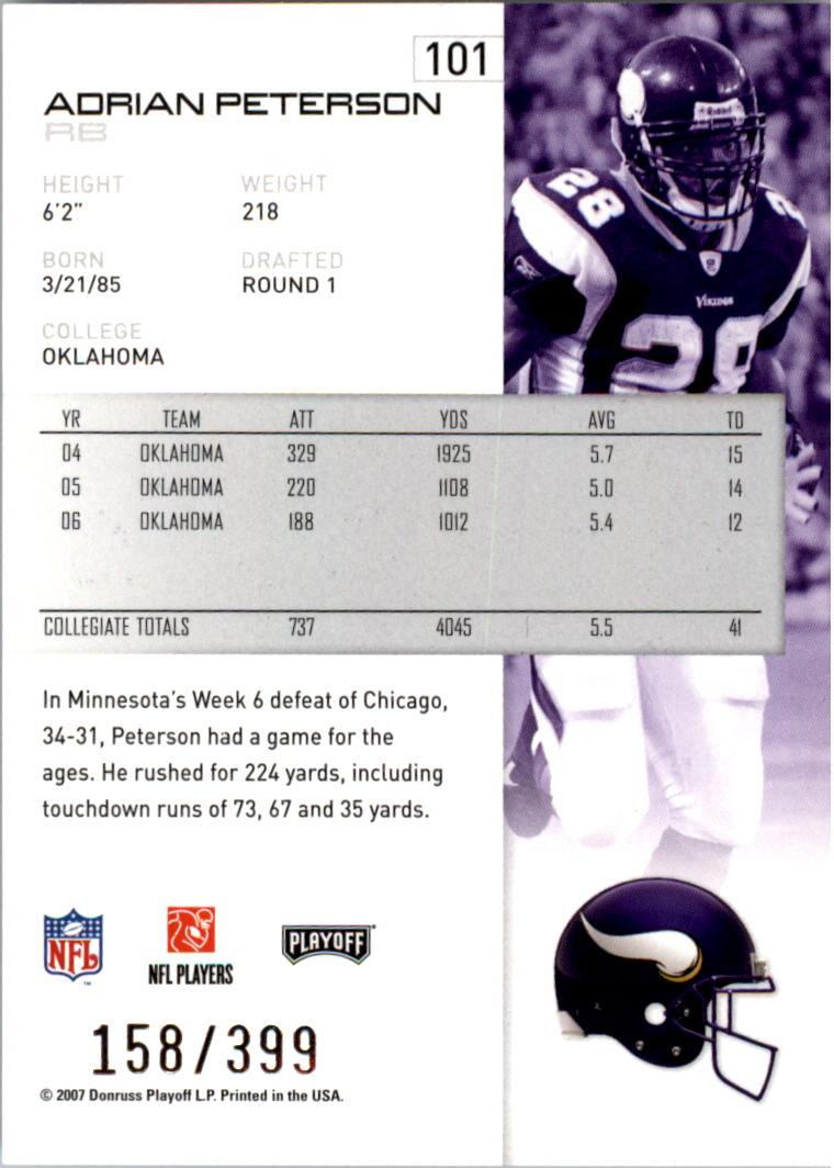 2007-Playoff-NFL-playoffs-Rojo-Metalizado-De-Futbol-Tarjeta-Pick miniatura 203
