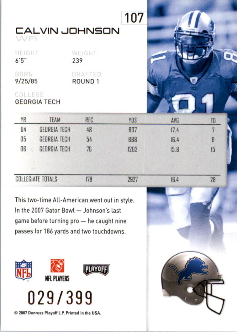 2007-Playoff-NFL-playoffs-Rojo-Metalizado-De-Futbol-Tarjeta-Pick miniatura 215