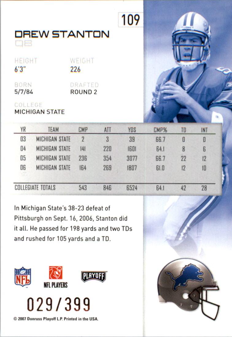 2007-Playoff-NFL-playoffs-Rojo-Metalizado-De-Futbol-Tarjeta-Pick miniatura 219