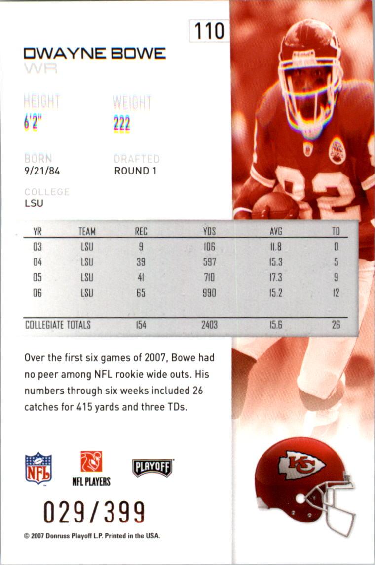 2007-Playoff-NFL-playoffs-Rojo-Metalizado-De-Futbol-Tarjeta-Pick miniatura 221