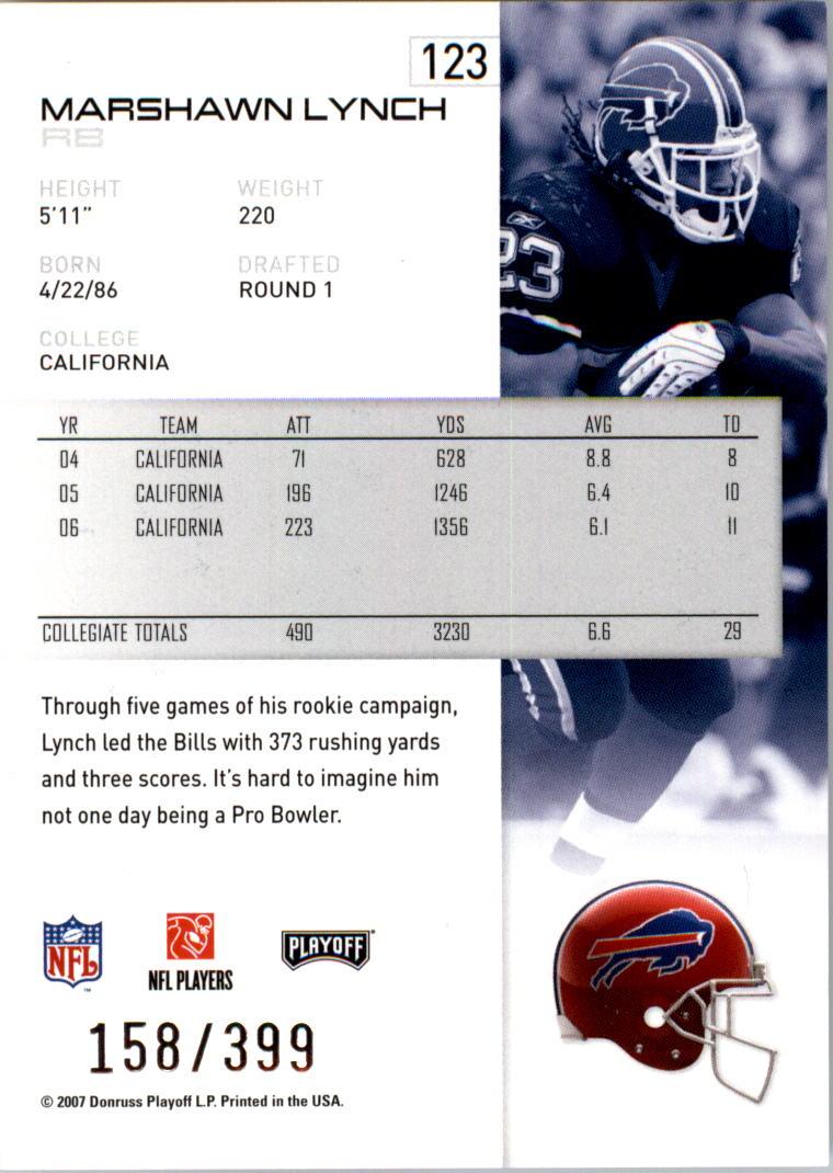 2007-Playoff-NFL-playoffs-Rojo-Metalizado-De-Futbol-Tarjeta-Pick miniatura 247