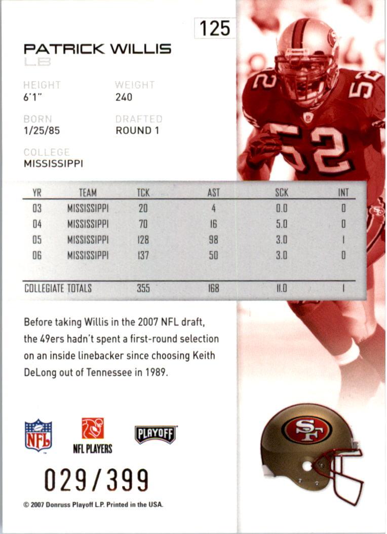 2007-Playoff-NFL-playoffs-Rojo-Metalizado-De-Futbol-Tarjeta-Pick miniatura 251