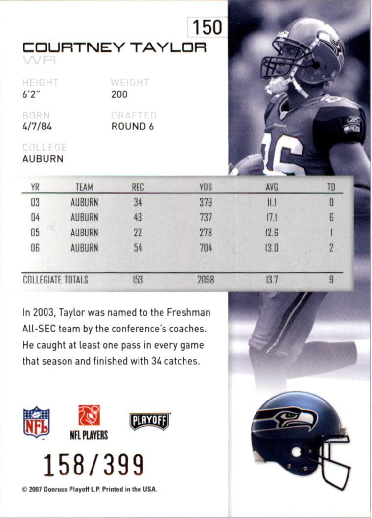 2007-Playoff-NFL-playoffs-Rojo-Metalizado-De-Futbol-Tarjeta-Pick miniatura 301