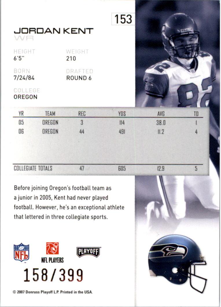2007-Playoff-NFL-playoffs-Rojo-Metalizado-De-Futbol-Tarjeta-Pick miniatura 307