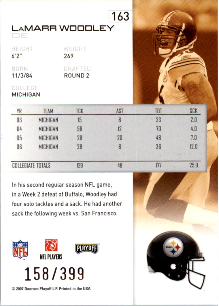 2007-Playoff-NFL-playoffs-Rojo-Metalizado-De-Futbol-Tarjeta-Pick miniatura 327