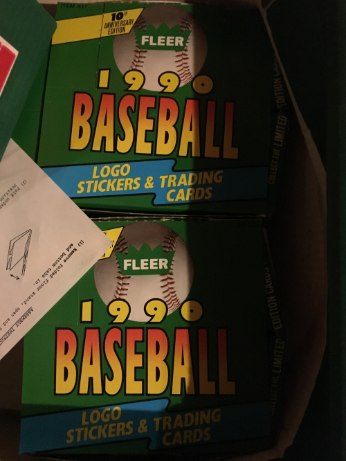 1990 Fleer Baseball Cello Box