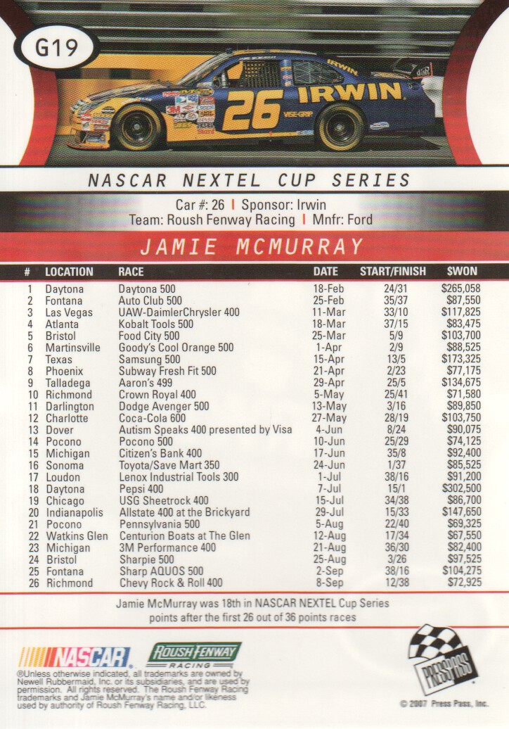 2008-Press-Pass-Parallels-NASCAR-Racing-Cards-Pick-From-List thumbnail 5