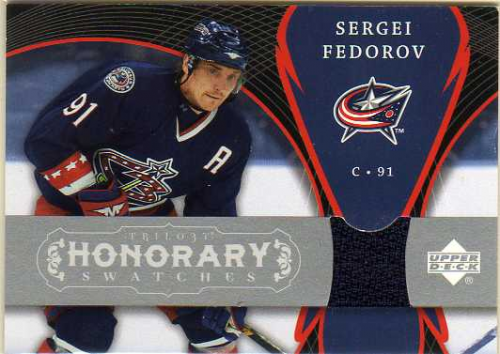 2007-08 Upper Deck Trilogy Honorary Swatches #HSSF Sergei Fedorov