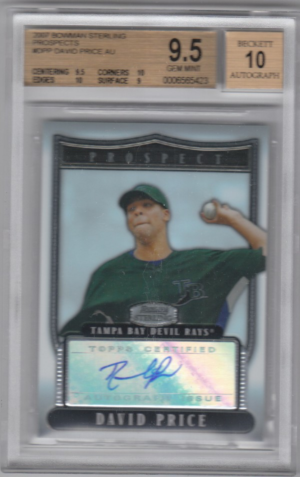 2007 Bowman Sterling Prospects #DPP David Price AU