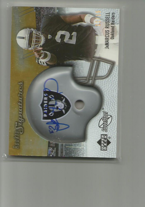 2007 Sweet Spot Rookie Signatures Gold 15 #141 JaMarcus Russell