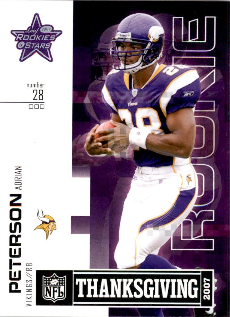 2007 Leaf Rookies and Stars Thanksgiving Classic #TC7 Adrian Peterson