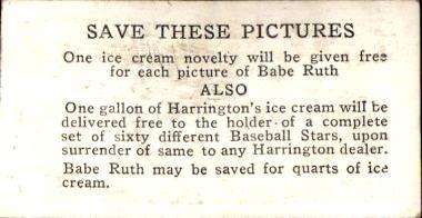 1928 Harrington's Ice Cream #24 John Mostil back image