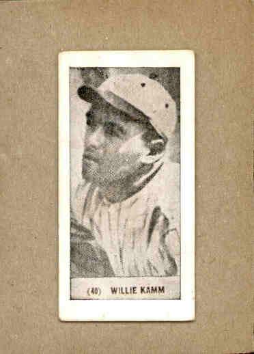1928 Harrington's Ice Cream #40 Willie Kamm