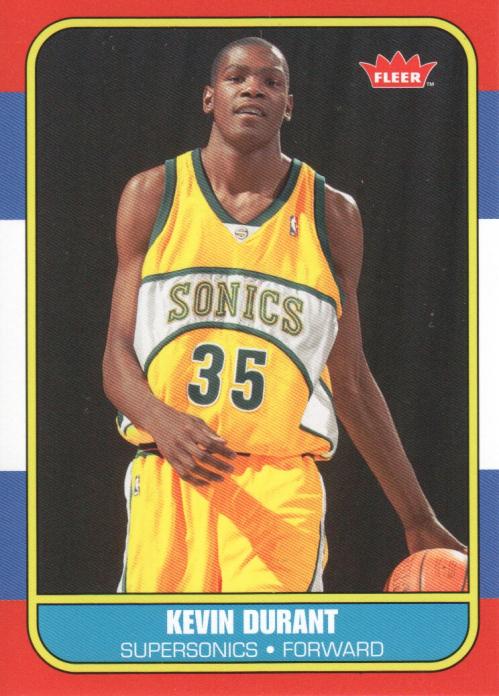 2007-08 Fleer 1986-87 Rookies #143 Kevin Durant