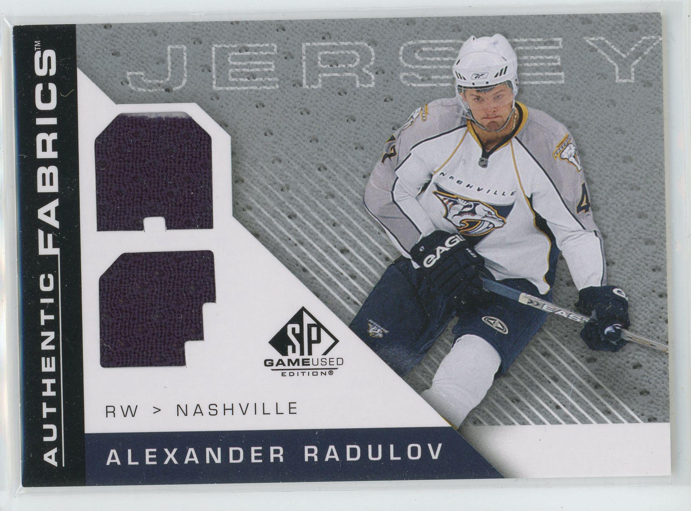 2007-08 SP Game Used Authentic Fabrics #AFAR Alexander Radulov