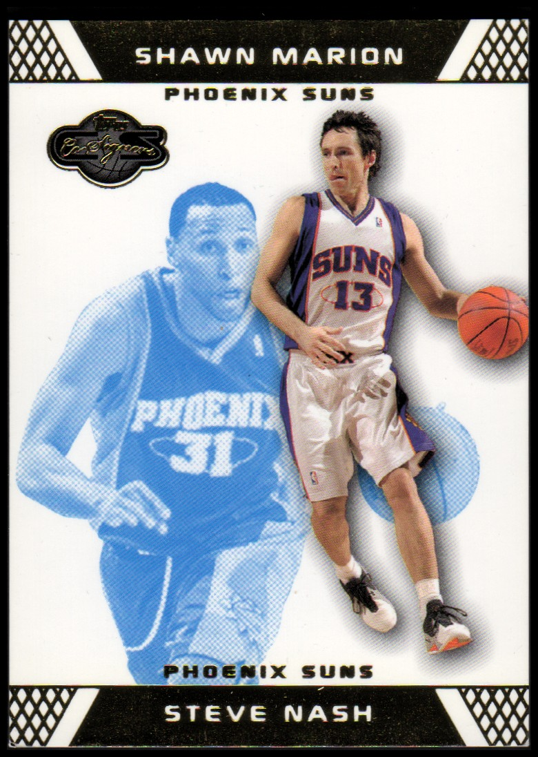2007-08 Topps Co-Signers Gold Blue #13 Steve Nash/Shawn Marion