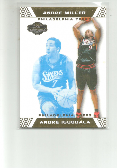 2007-08 Topps Co-Signers Gold Blue #18A Andre Iguodala/Andre Miller