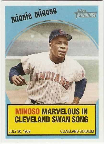 2008 Topps Heritage Baseball Flashbacks #BF1 Minnie Minoso