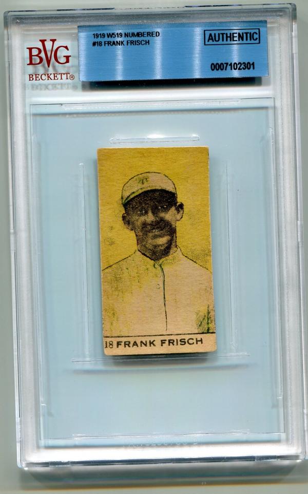 1920 W519 Numbered #18 Frank Frisch
