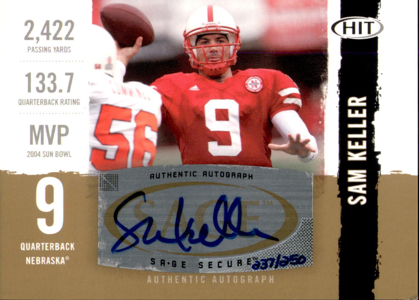 2008 SAGE HIT Autographs Gold #A39 Sam Keller