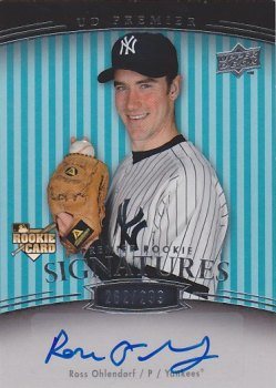 2008 Upper Deck Premier #230 Ross Ohlendorf AU RC/299
