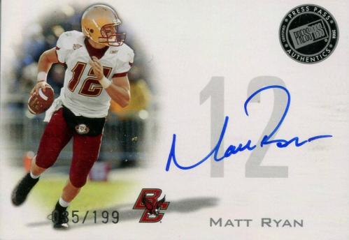 2008 Press Pass Autographs Silver #PPSMR Matt Ryan