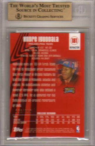 2003-04 Finest Refractors #181 Andre Iguodala back image